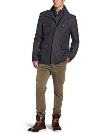 Michael Kors Men's Burlingame Field Coat, New Charcoal, X-Large
