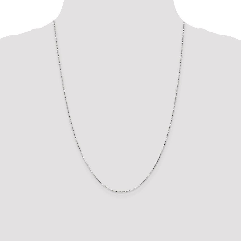Solid 925 Sterling Silver .6mm Box Chain Necklace