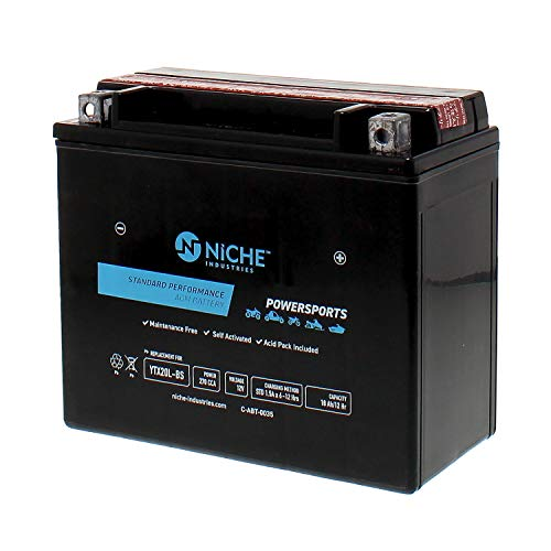 Audio Niche - NICHE Performance Series Replacement AGM Battery for YTX20L-BS, Rechargeable, Maintenance Free, Sealed | 270CCA, 12V, Self Activated | ATV, UTV, Motorcycle, Snowmobile | For Honda, Yamaha & more