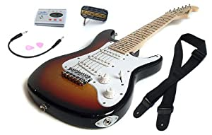 sunburst deluxe childrens guitar package 1 2 size childs electric guitar for kids beginners. Black Bedroom Furniture Sets. Home Design Ideas