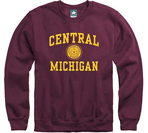 Ivysport Central Michigan University Chippewas Crewneck Sweatshirt, Legacy, Maroon, Large