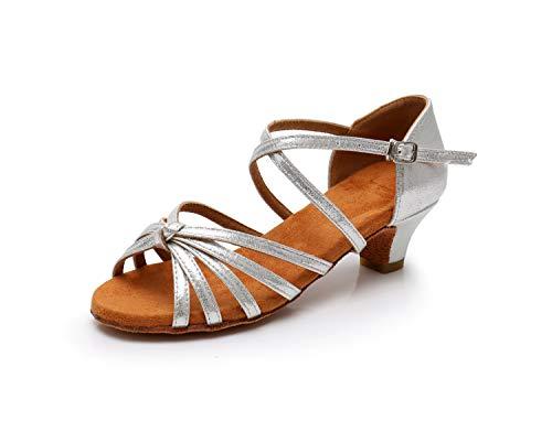 Donna Standard Ballroom scarpe Ballo Da Swdzm Latino Scarpe Argento It Model Ballo whxgg Raso pWqz6d