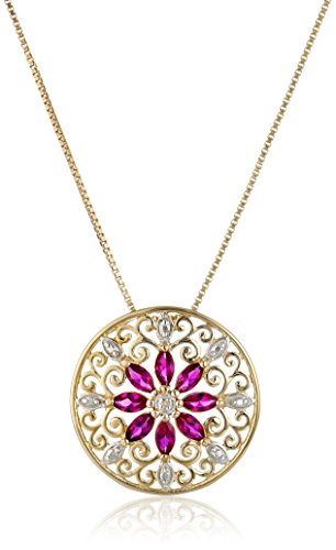 18k-Yellow-Gold-Plated-Sterling-Silver-Mandala-Created-Ruby-Filigree-Pendant-Necklace-18