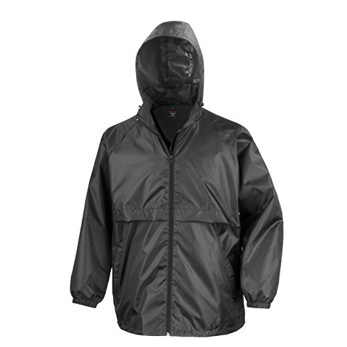 - Result Mens Core Adult Windcheater Water Repellent Windproof Jacket (L) (Black)