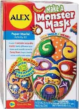 ALEX Toys Craft Make a Monster Mask Paper Mache Activity Kit