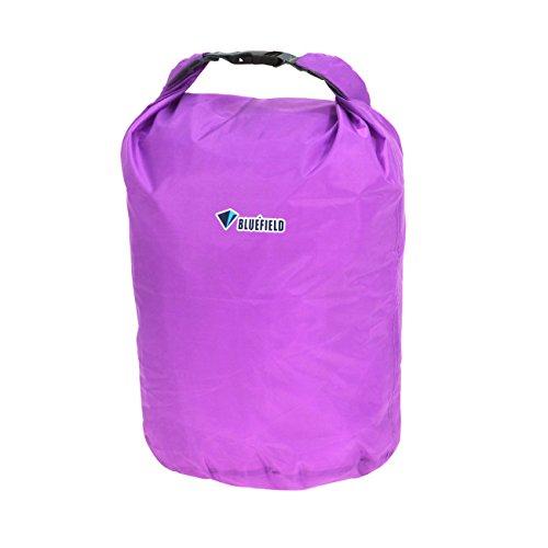 wasserdichte Trockentasche - BLUE FIELD Outdoor wasserdichte Trockentasche fuer Kanu Kajak Rafting Camping [koennen komprimiert werden, halten Lebensmittel, Kleidung, Taschen] (40L, lila)