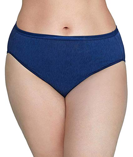Vanity Fair Women's Plus Size Illumination Hi Cut Panty 13810, Admiral Navy, 5X-Large/12