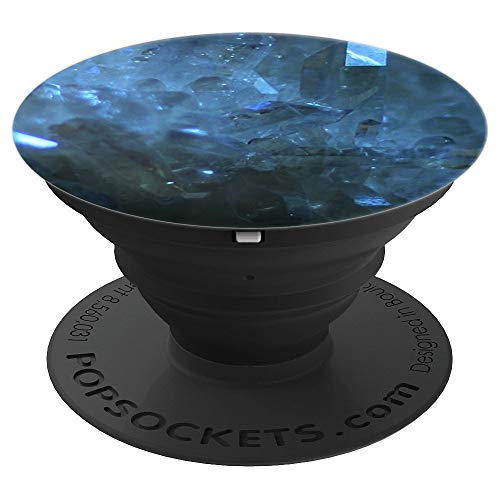 Light Blue Aura Quartz Cosmic Crystal - PopSockets Grip and Stand for Phones and Tablets ()