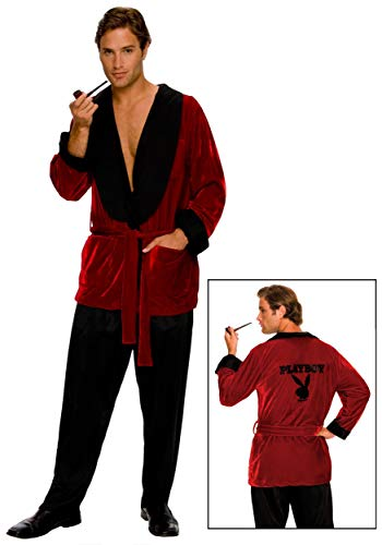 Secret Wishes Costume Playboy Smoking Jacket, Hef, Standard -