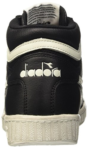 Diadora Game L High Waxed, Sandalias con Plataforma Unisex Adulto Negro (Nero/bianco Nuvola)