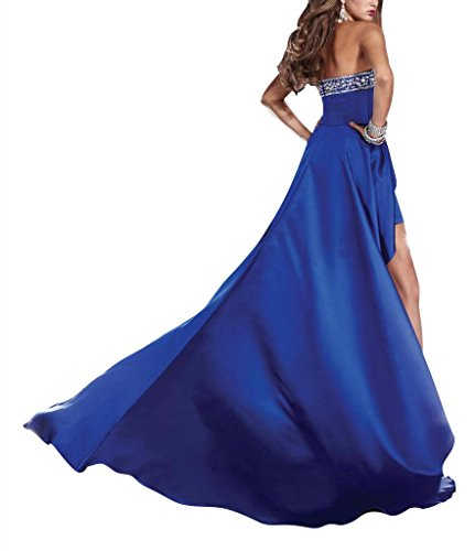 High Abendkleid BRIDE Abendkleid GEORGE Schatz Low Elfenbein Kleid Reizvoller Satin tf88pwd