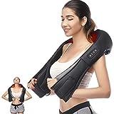 Secura Shiatsu masajeador de cuello y hombros eléctrico masaje de espalda con tejido profundo de calor masajeador para masaje de cuerpo completo