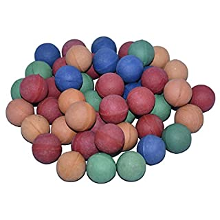 Abi Rubber Balls 1 1/8 Inches Set of 50 Assorted Colors