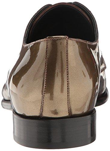 Dolce & Gabbana Hombres Metallic Plain Toe Oxford Gold