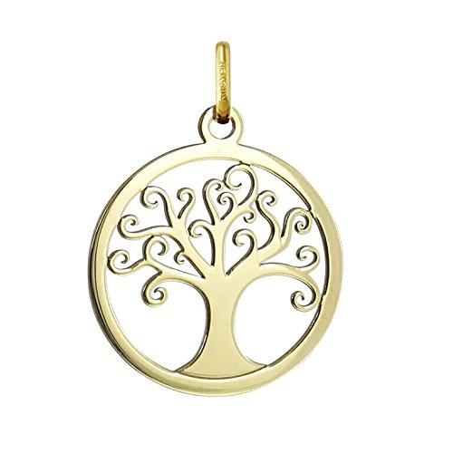 MÉDAILLE ARBRE DE VIE - Médaille Ajourée - Or 18 carat - Hauteur: 20 mm - www.diamants-perles.com A248400097-J