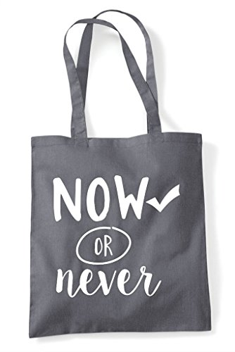 Shopper Dark Motivational Never Bag Or Tote Statement Grey Now w6TOx