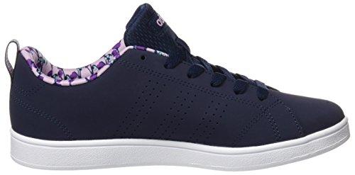 adidas Vs Advantage Clean K - zapatos de gimnasia Unisex Niños Azul (Maruni/maruni/orqcla)