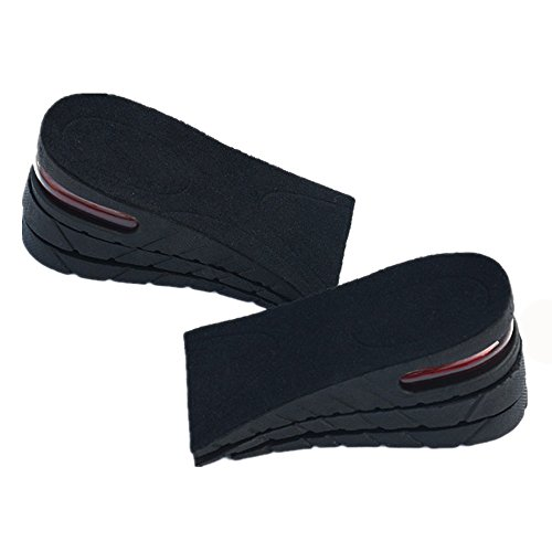 Height Increase Insole 3-Layer Air up Shoe Lifts Elevator Shoes Insole -6 cm(2.4inches) Heels Lift Inserts for Men and Women