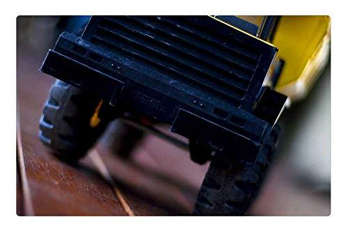 Trucks Fun Rug - Indoor Floor Rug/Mat (23.6 x 15.7 Inch) - Dumptruck Tonka Truck Toy Vehicle Fun