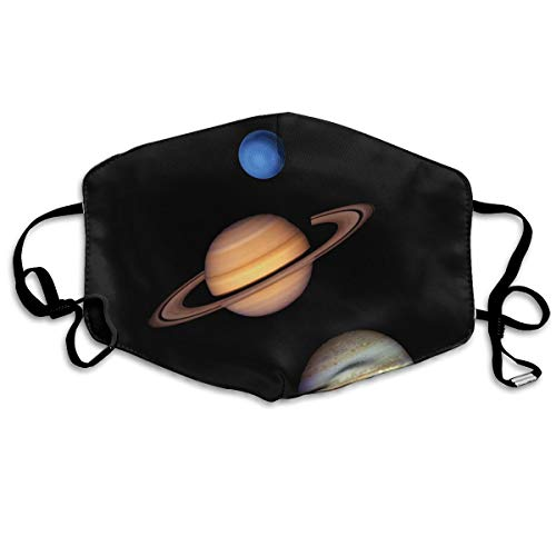 IEHFE MCNXB Gas Giants in The Solar System Unisex Flu Dust Masks Reusable, Adjustable Ear Loops Breathable Mask for Outdoor Cycling Earloop Masks Pollen Germs Allergens Masks