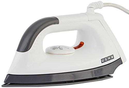Usha Electric EI-1602 1000-Watt Dry Iron – White (Panel color may vary)