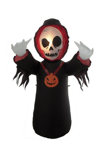 4 Foot Halloween Inflatable Grim Reaper 2013 Yard Decoration (Cute Halloween Yard Decoration Ideas)