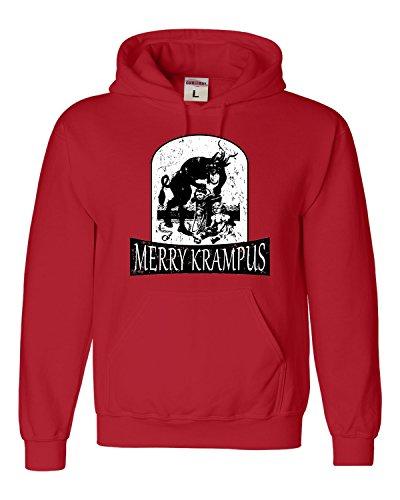 XX-Large Red Adult Merry Krampus Christmas Demon Sweatshirt Hoodie -