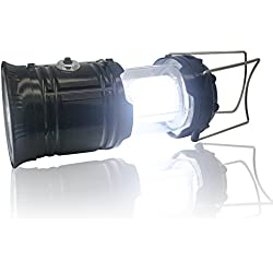 Camping Lantern, soled Solar Lantern, Emergency Rechargeable Lantern 3 in 1 Ultra Bright Rechargeable LED Lantern for Fishing, Hiking, Camping Black