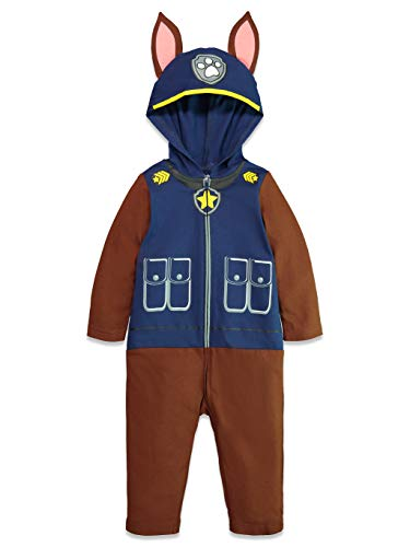 Nickelodeon Paw Patrol Marshall Boys' Hooded Costume Coverall (5T, Chase)