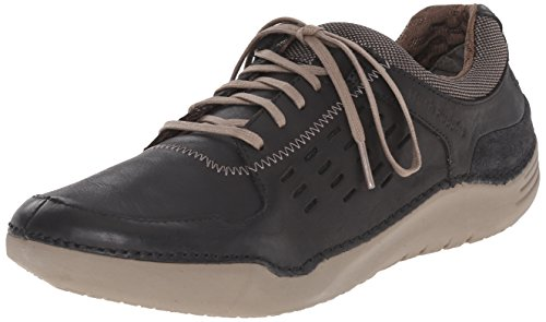 Hush Puppies Hombres Hinton Method Casual Sneaker Cuero Negro