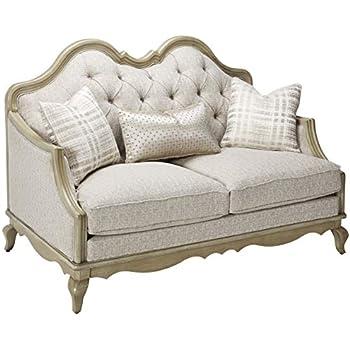 Amazon.com: zentique Adele sofá, color crudo: Kitchen & Dining