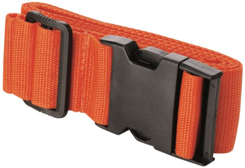 Travel Smart by Conair  Luggage Strap Suitcase Belt Travel Accessories, Orange