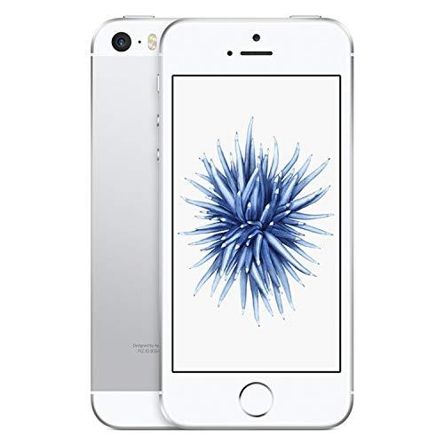 Apple iPhone SE 16GB A1662 Unlocked Phone - Silver (Renewed) ()