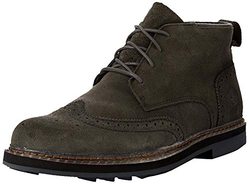 Timberland Men's Squall Canyon Wingtip Waterproof Chukka Dark Green Suede 12 D US