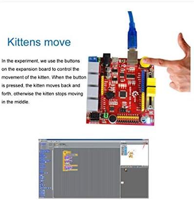 AN-JING Ersatzteile S4A Development Board Learning Kit Scrach Interactive Learning Kit kompatibel for Arduinos Zubehör