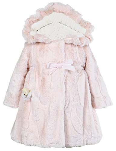 (Widgeon Little Girls' Hooded Coat, Sheared Mink Pearl, 4T)