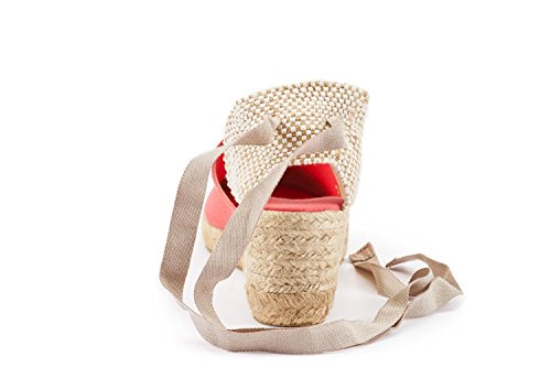 Scarpe a Viscata punte donna da Spagna aperte tacco in in prodotte Rosa drqwrU