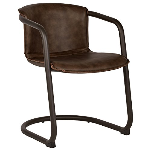 (Rivet Contemporary Leather Office Desk Chair, 31
