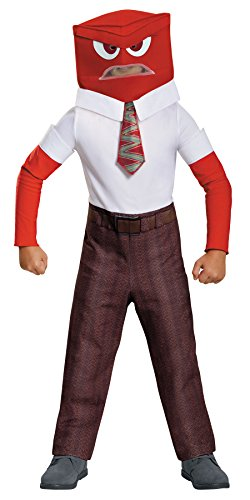 UHC Disney Boy's Inside Out Anger Classic Outfit Child Halloween Costume, Child M (7-8) (Girls Inside Out Joy Classic Costumes)