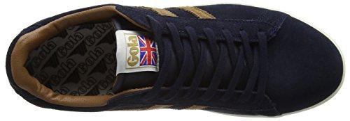 Ef Sneaker tobacco navy Blu Uomo Gola Suede Equipe q8ZW0