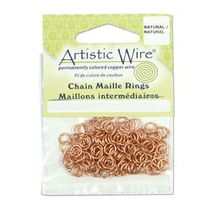 Artistic Wire, Chain Maille Jump Rings, 18 Ga / ID 5.95mm / 100pc, Tarnish Resistant (Artistic Wire Round Nose Pliers)
