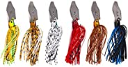 Kamonda 6 Pieces/Set 10cm 11g Artificial Buzzbait Fishing Lures Chatterbait Blade Crankbait Fishing Lures