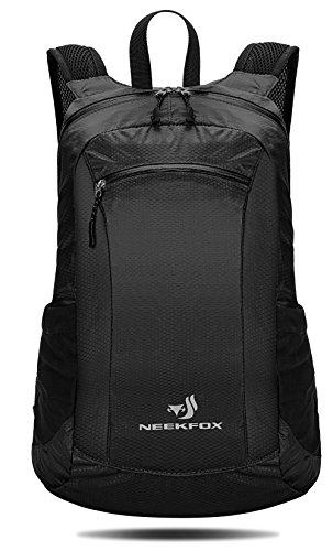 NEEKFOX 20L Packable Lightweight Travel Hiking Backpack Small Water Resistant Hiking Daypack (01.Black) 20l Backpack