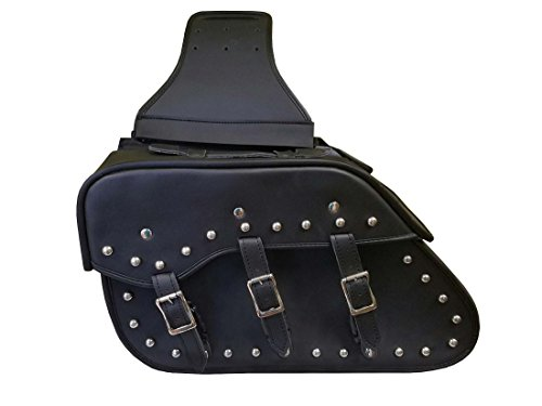 Studded Leather Motorcycle Saddlebag Rk 213SB product image