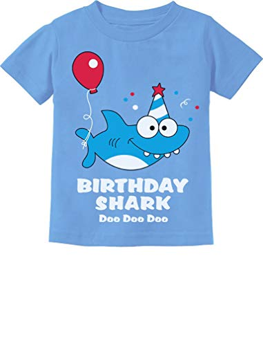 - Baby Shark Doo doo doo First/2nd Birthday Shark Outfit Infant Kids T-Shirt 18M California Blue