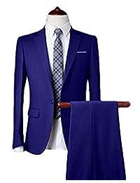 The Peachess Mens 2 pc One Button Slim Fit Suits Wedding Suit