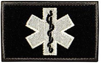 A+ Patch ecusson brod/é airsoft tactical militaire groupe sanguin thermocollant noir