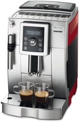 Delonghi ECAM 23420 Sr Cafetera De Espresso Con Batidor De Leche, 1450 W, 1.8 Litros, Negro/Rojo: Amazon.es: Hogar