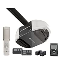 Chamberlain WD962KEVC Garage Door Opener, ¾ HPS, Battery Backup When Power Goes Out, Ultra-Quiet Belt Drive Operation, MyQ Smartphone Control Enabled (Internet Gateway Sold Separately), Includes 2-3 Button Remotes, Keyless Entry Keypad, Multi-Function Wall Control Panel