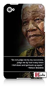 Nelsen Mandela Famous Quote Apple ipod 4 Quality Hard Case Snap On Skin for ipod 4/4G (WHITE)